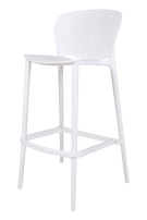 white plastic stool for rent, in pop up shops and events