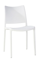 white plastic chair for hire, pop up shop to rent