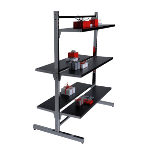 double sided shelving  for rent, pop up shops