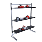 single sided shelving, shop fittings